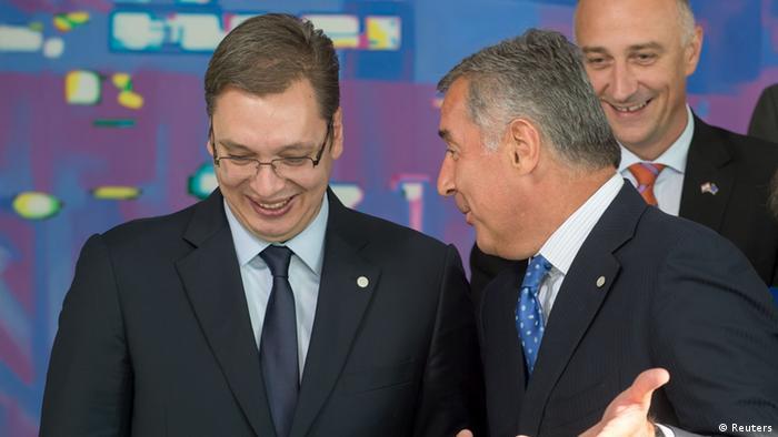 Westbalkan-Konferenz Gruppenbild Vucic und Djukanovic 28.08.2014 Berlin