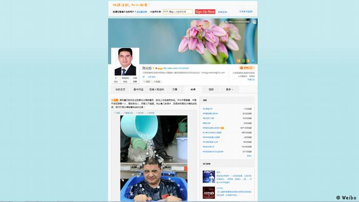 Chen Guangbiao Ice bucket challenge