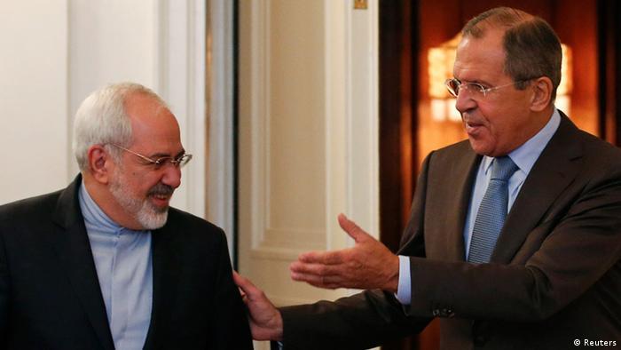 محمدجواد ظریف، وزیر خارجه ایران و همتای روس او سرگئی لاوروف (عکس از آرشیو)