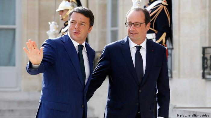 Matteo Renzi und Francois Hollande in Paris