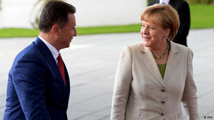 Angela Merkel mit Nikola Gruevski Ministerpräsident Mazedonien in Berlin