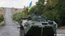 Ukraine Region Donezk Soldaten Panzer 29.08.2014