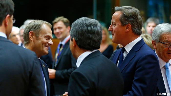 Brüssel EU Gipfel Donald Tusk und Cameron