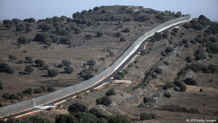 Golanhöhen Grenze Syrien Israel 30.08.2014