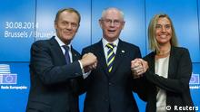 Brüssel Tusk Van Rompuy Mogherini 30.08.2014