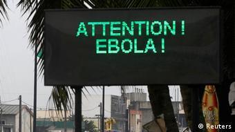 Ebola Warnung Symbolbild