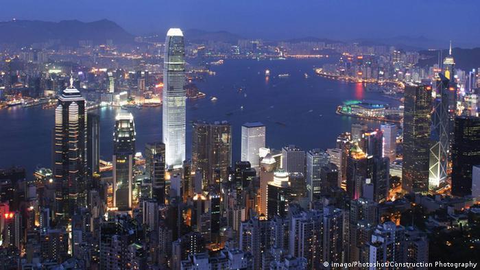 Hongkong Skyline Finanzielles Zentrum (imago/Photoshot/Construction Photography)