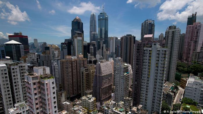 Hongkong Skyline Finanzielles Zentrum (A.Ogle/AFP/Getty Images)