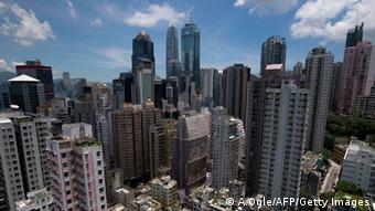Hongkong financial district skyline