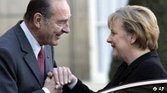 Angela Merkels Antrittsbesuch bei Jacques Chirac