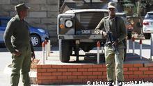 Lesotho Maseru Militär Hauptquartier nevorstehende Friedensverhandlungen