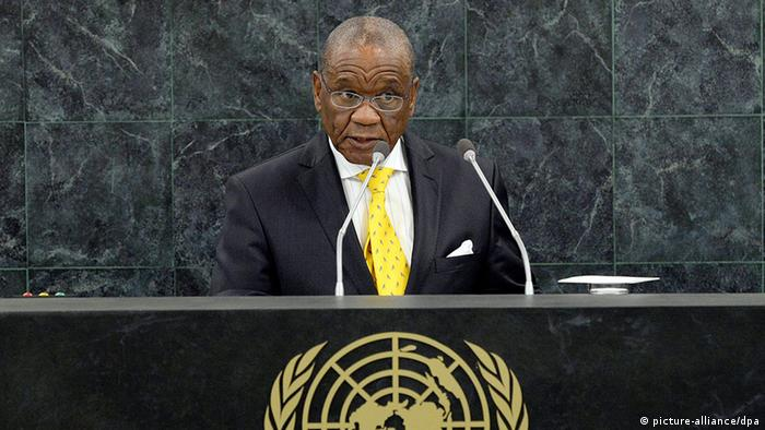 Thomas Thabane, Prime Minister of Lesotho, who resigned on Thursday