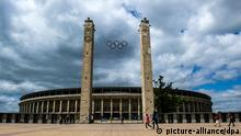 Olympia Bewerbung Berlin olympische Ringe Stadion