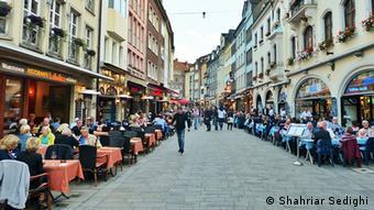 Deutschland Düsseldorf Stadtansicht Altstadt Restaurants