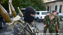 Ukraine Donezk Separatisten Kämpfer 31.08.2014