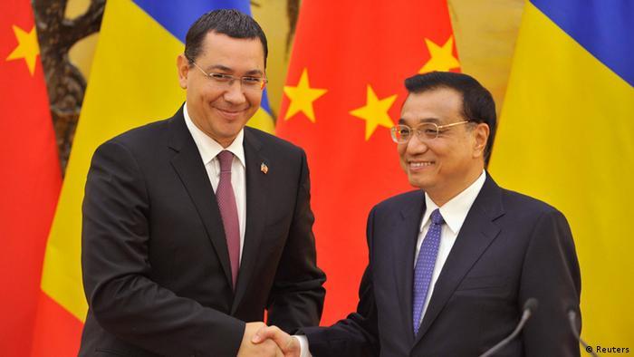 Premierul Ponta cu omologul său chinez, Li Keqiang, la 01.09.2014, la Beijing