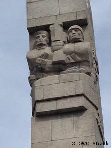 To μνημείο πεσόντων στο Βεστερπλάτε έξω από το Γκντανσκ.