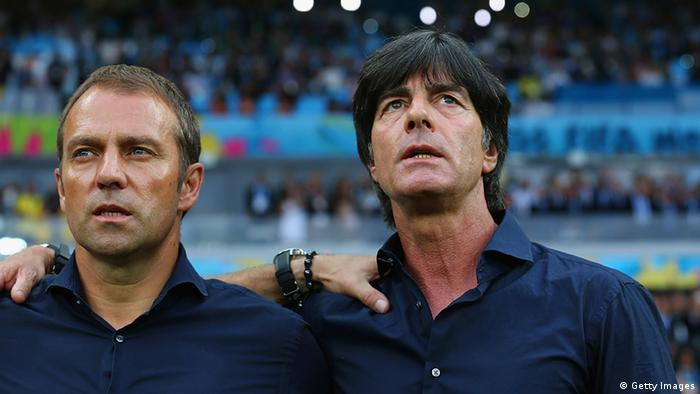 Hansi Flick with Germany coach Joachim Löw in World Cup 2014 (Getty Images)