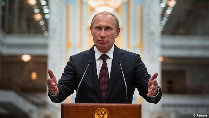 Vladimir Putin in Minsk