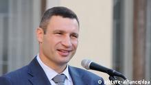 2486157 09/01/2014 Mayor of Kiev Vitali Klitschko speaks at the celebratory assembly dedicated to the Day of Knowledge at School No.69 in Kiev. Alexandr Maksimenko/RIA Novosti