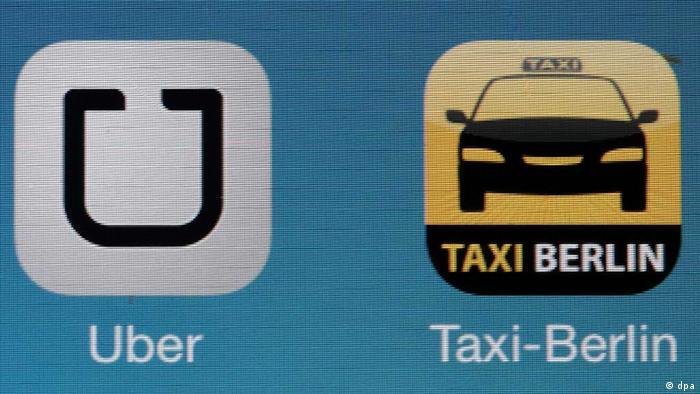 Apps von Uber und Taxi Berlin