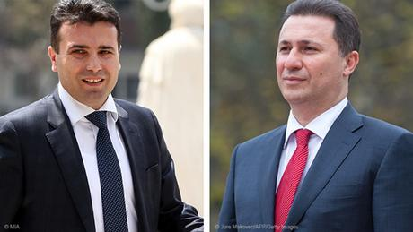 Kombobild Zoran Zaev und Nikola Gruevski
