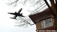 Berlin-Tegel Flugzeug Fluglärm Wohngebiet