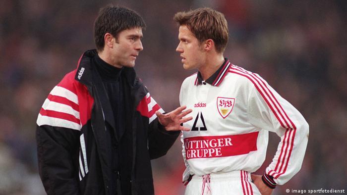 Löw como ayudante del entrenador del VfB Stuttgart.