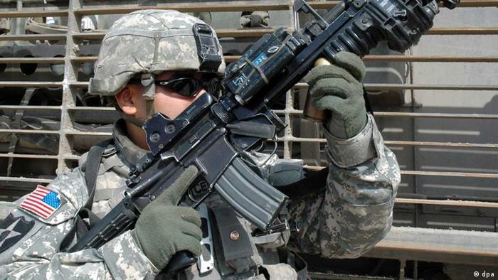 Irak USA Soldat Bagdad (dpa)