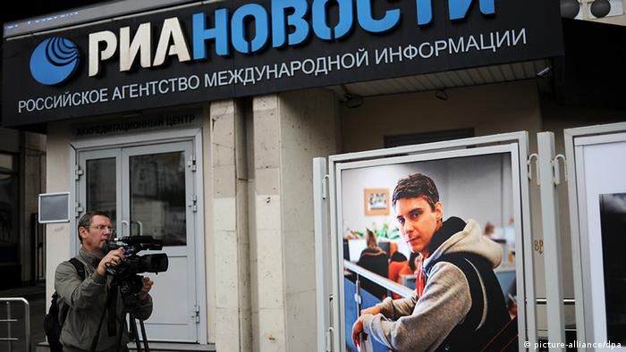 Journalist Andrei Stenin, picture at RIA Novosti in Moskau
