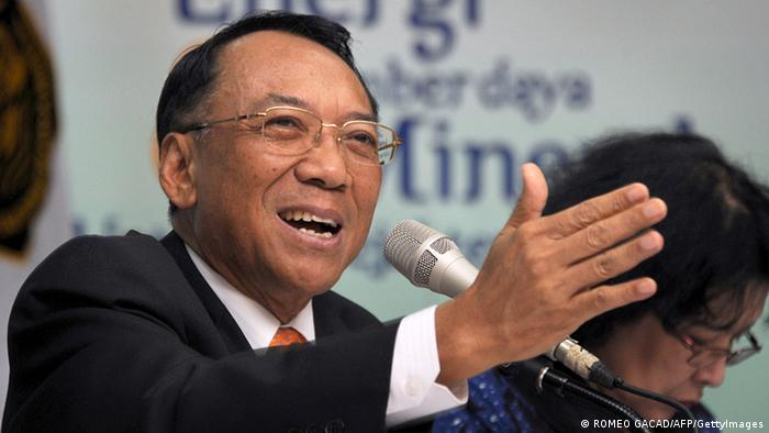 Indonesien Energieminister Jero Wacik