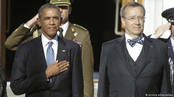 Барак Обама и Тоомас Хендрик Ильвес