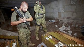 Ukraine russische Waffen für die Separatisten in Slowjansk 03.09.2014