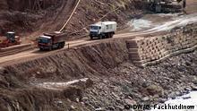 Tadschikistan Bauarbeiten am Rogun-Wasserwerk