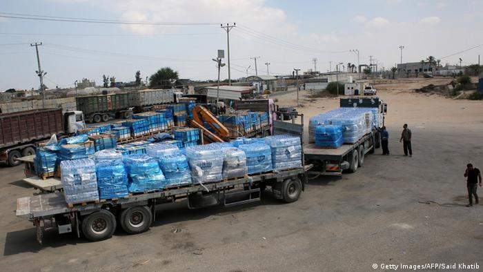 Palästina Blockade Gazastreifen Grenze UNRWA (Getty Images/AFP/Said Khatib)