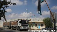 Palästina Blockade Gazastreifen Grenze Versorgung LKW
