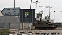 Palästina Blockade Gazastreifen Grenze zu Israel Erez