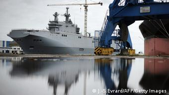 French Mistral ship Photo: JEAN-SEBASTIEN EVRARD/AFP/Getty Images