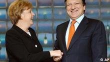 Merkels Antrittsbesuch bei Jose Manuel Barosso