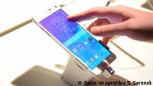 NEW YORK, NY - SEPTEMBER 03: A general view of the Galaxy Note 4 and the Galaxy Note Edge at the Samsung Galaxy Unpacked Launch Event In NYC on September 3, 2014 in New York City. (Photo by Ilya S. Savenok/Getty Images for Samsung)