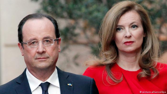 Francois Hollande und Valerie Trierweiler (Foto: DPA)