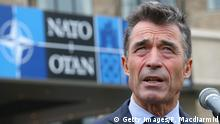NEWPORT, WALES - SEPTEMBER 04: NATO Secretary General Anders Fogh Rasmussen talks to reporters at the NATO Summit on September 4, 2014 in Newport, Wales. Leaders and senior ministers from around 60 countries are gathering for the two day meeting where Ukraine and the ISIS hostages are likely to be discussed. (Photo by Peter Macdiarmid/Getty Images)