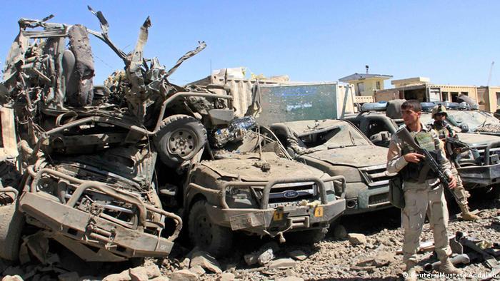Scene of a bomb blast in Ghazni