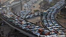 A general view shows a traffic jam on Cairo?s six October bridge on January 23, 2013. AFP PHOTO/KHALED DESOUKI (Photo credit should read KHALED DESOUKI/AFP/Getty Images)