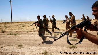 Wapiganaji wa Peshmerga kwenye mapambano dhidi ya IS.