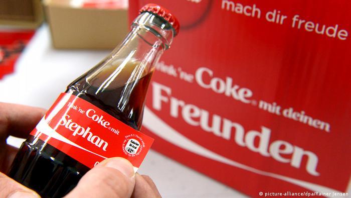 Coca-Cola Flasche mit Namen
