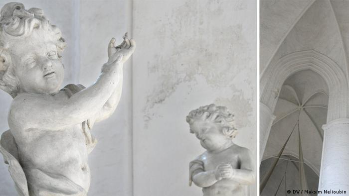 Фигуры ангелов и готические своды городского собора в Любеке