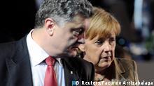 NATO Gipfel in Wales 04.09.2014 Merkel und Poroschenko