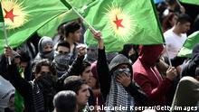 من مظاهرة لأتباع حزب العمال الكردستاني المحظور في ألمانيا ـ هانوفر 2014 (أرشيف)