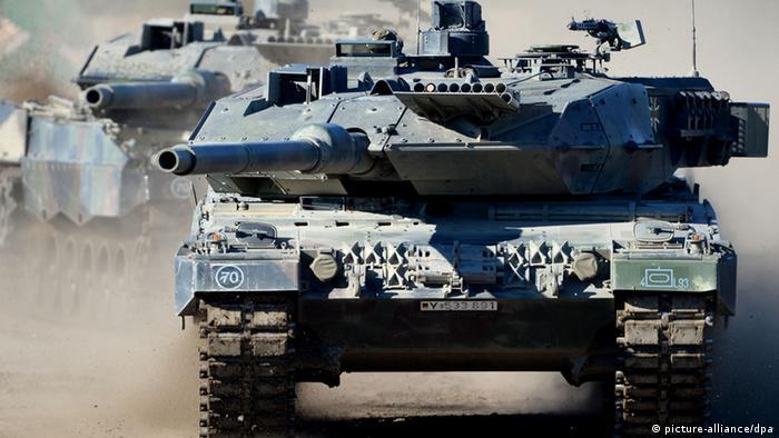 Symbolbild Deutschland Waffenexporte Leopard 2 A6